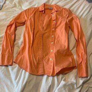 [ j. crew ] • coral dress shirt